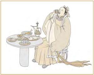 六三:食舊德,貞厲,終吉。
